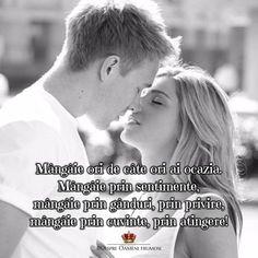 Mângâie ori de câte ori ai ocazia. Mângâie prin sentimente mângâie prin gânduri prin privire mângâie prin cuvinte prin atingere!  Zi plină de frumos! _____________ The most beautiful posts   Despre Oameni frumosi Sharing is caring...