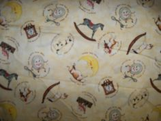 Over the Moon Cotton Fabric,Wilmington,1 Yard by susiesfabrics on Etsy