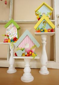 Ameroonie Designs: Embellished birdhouses and a Giveaway