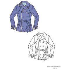 Flat Fashion Sketches, Fashion Design Templates, Fashion Drawings via Polyvore