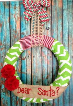 Christmas Wreath Holidays Personalized by CherishedbyDesign, $32.99
