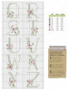 Abécédaire roses tons pastels 2/3
