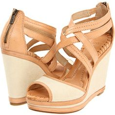 FRYE CORRINA CROSS STITCH - $198. I'm not usually a big fan of nude/beige shoes, but I love these somehow - except for that zipper on the back. Whoever started this trend should be slapped.