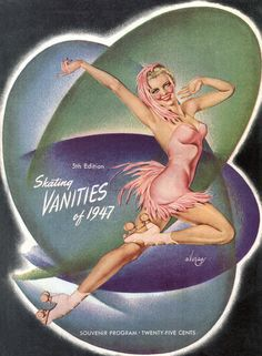 Skating Vanities 1947 Alberto Vargas Roller Skating Art Poster Print SKU2461 | eBay