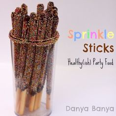 Sprinkle Sticks! Don't these look so naughty! Actually they are not too bad. They have no artificial colours, are made with dark chocolate and are egg-free.