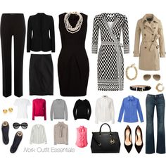 """""""Work Outfit Essentials"""" by kimcayce on Polyvore"""