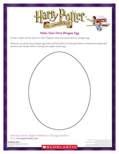 CRAFT: Hatch your own dragon egg!  Download by clicking the image above! For more activities visit www.scholastic.com/hpreadingclub #HarryPotter #HPread