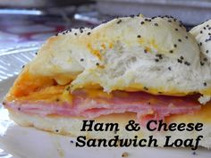 Hot Ham & Cheese Loaf Sandwich | Serves 8-10, ready in 1 hour