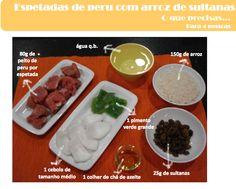 A Associação Portuguesa de Nutricionistas aconselha-te estas Espetadas de Perú com Arroz de Sultanas