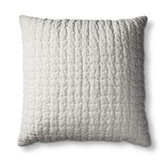 Threshold™ Quilted Velvet Decorative Pillow - Velvet Cream   $24.99 (BOGO 50% off)