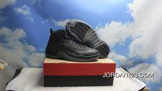 b1fec12f354 AJ12 Black Sheep Wool All Black Air Jordan 12 Wool 852627-003 Top Deals