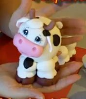 Marisol Romero on how to make this cute cow using a new medium for me cold porcelain. I can't wait to try making one myself. I can't tell you when cows became my thing, and they really aren't, but I do them well. Happy to learn something new (Robin)