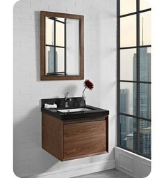 Contemporary Art Websites Fairmont Designs WV m Wall Mount Vanity in Natural Walnut