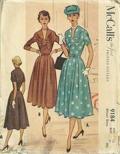 McCall's 9184, ca 1952; Sz 14/Bust 32, FF