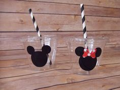 Mickey Mouse and Minnie Mouse Birthday Party 9 oz Clear Cup, 12 oz Clear Cup, Plastic Cup,