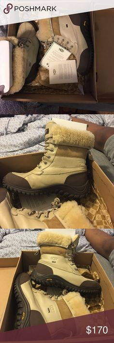 MALE UGG SNOW BOOTS SIZE 11 I'm selling these UGG snow boots, size 11. Bought for my boyfriend and they weren't really the right fit and hurt his feet. Worn less than five times.. Great condition, minor creasing on the left side of the right shoe. UGG Shoes Winter & Rain Boots