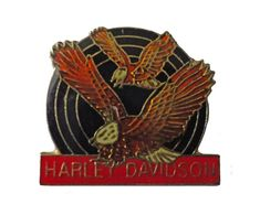 """HARLEY DAVIDSON Birds Of A Feather motorcycle dadge vintage enamel pin lapel lapel pinback by VintageTrafficUSA  24.00 USD  A vintage Harley Davidson pin! Used but Excellent condition. Rare. Measures: approx 1"""" 20 years old hard to find vintage high-quality lapel/pin. Add inspiration to your handbag tie jacket backpack hat or wall. Have some individuality = some flair! -------------------------------------------- SECOND ITEM SHIPS FREE IN USA!!! LOW SHIPPING OUTSIDE USA!! VISIT MY STORE FOR…"""