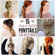Easy and Stylish Mom Ponytails
