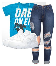 """""""Dab on em"""" by queenpetty on Polyvore featuring NIKE, Sterling Essentials, women's clothing, women, female, woman, misses and juniors"""