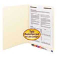 Desk Supplies>Desk Set / Conference Room Set>Holders> Files & Letter holders: Heavyweight Folders, One Fastener, End Tab, 11 Point, Letter, Manila, 50/Box