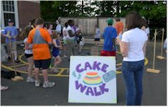 DIY cake walk fundraiser and page has tons of other diy fundraising ideas!!
