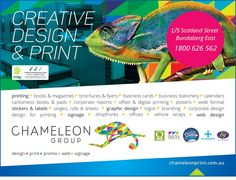 #CreativeDesignSolutions - Chameleon Print Group - #Australia  http://chameleonprint.com.au/graphic-design-services/