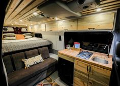 Gorgeous Camper Van Conversion in Soothing Color Palette Camper Renovation Every camper van owner has a Camper Van Color Palette that is essential to be able to easily choose the perfect van. The colors and brands of your van. Mercedes Sprinter Camper, Mercedes Camper Van, 4x4 Camper Van, 4x4 Van, Van Conversion Interior, Camper Van Conversion Diy, Van Conversion Windows, Van Conversion Floor, Kombi Home