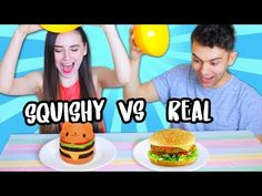 Squishy Food, Food Challenge, Real Food Recipes, Challenges, Breakfast, Youtube, Youtubers, Morning Breakfast