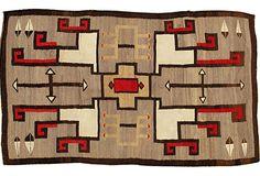 """One Kings Lane - Vintage Accessories & Furniture - Navajo Rug, 4' x 6'8"""""""