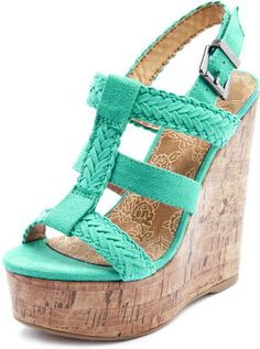 sea foam green wedge...I was told I have to wear black shoes to graduation...out of spite I want something like this!