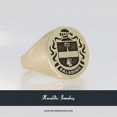 Italian family crest rings