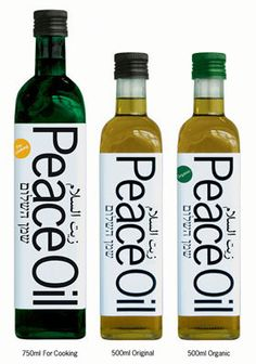 Do Good Gift Idea# 8: Peace Oil® is produced in Israel by Jews, Arabs, Druze and Bedouin working together. It encourages peaceful co-operation between communities and brings economic prosperity to many families. Profits from sales will support peace and reconciliation work in the Middle East www.peaceoil.org
