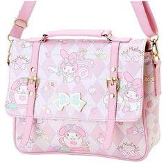 My Melody Bag kawaii ❤ liked on Polyvore featuring bags, handbags, pin bag, pink purse, pink handbags and pink bag