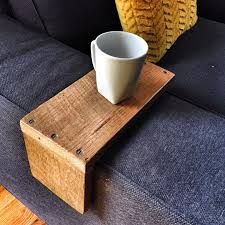 Image result for wooden cup holder for couch