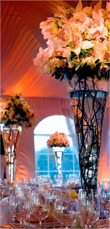 Love the tall vases
