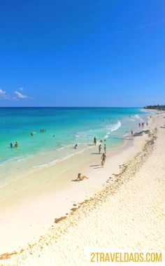 Of all the beaches in Mexico those of Playa del Carmen are some of the most beautiful. Close to Akumal with its sea turtles and the cenotes inland, it's an ideal Mexican vacation destination. 2traveldads.com