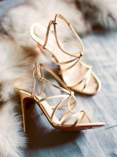 Photography: Sally Pinera - http://www.stylemepretty.com/portfolio/sally-pinera Bride's Shoes: Christian Louboutin - us.christianlouboutin.com/us_en/   Read More on SMP: http://www.stylemepretty.com/2016/01/06/black-tie-garden-party-wedding/