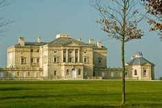 It is rare to have such an unhindered view of a private mansion house. Buckland House was built in grand Palladian style for Robert Throckmorton around English Manor Houses, English Castles, English House, English Estates, English Architecture, Georgian Homes, Marquise, Grand Homes, England And Scotland