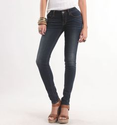I love these dark jeans. you can dress them up or down #bullheadblack #pacsun