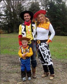 DIY Woody and Jessie costumes for adults u0026 kids! & DIY Jessie and Woody Costumes | Halloween Costumes | Pinterest ...
