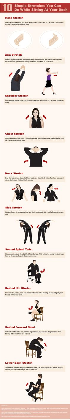 10 Simple Stretches To Do At Your Desk [Infographic]