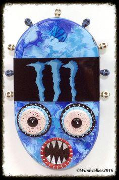 Original Outsider Folk Art Comical Tribal Head by WindwalkerArt
