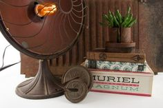 Dumpster Decorating: Furnishing Your Home With Repurposed Pieces - love the fan turned lamp