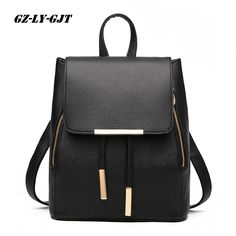 85732879018d GZ-LY-GJT Women Backpack High Quality PU Leather Escolar School Bags For  Teenagers