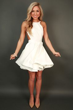 To Die For Fit & Flare Dress in White