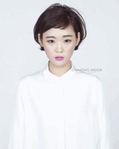 Mushroom cut #short #hair #beauty #cut #chahongardor