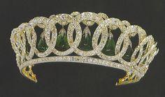 Grand Duchess Vladimir's Tiara with emeralds, English Crown Jewels