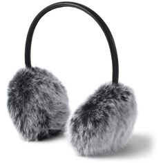 Lands' End Women's Faux Fur Earmuffs ($29) ❤ liked on Polyvore featuring accessories, black, lands' end and faux fur earmuffs