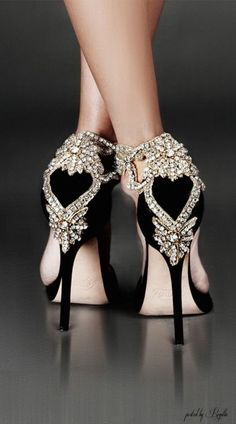 Aminah Abdul-Jillil Shoes. Crystal Back Embellished hand crafted Detail with Gold Bead Accents.