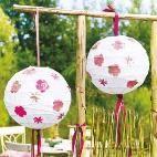 Einfache Bastelanleitung für hübsche Garten-Lampions
